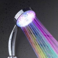 Amazon.com: New Temperature Senor Control RGB LED Light Water Shower Head No Battery Needed: Home & Kitchen