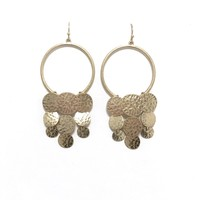 Embellished Texture Gold Earrings