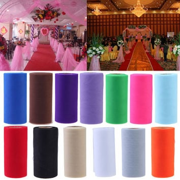 Wedding Decoration Tulle Rolls Organza Gauze Element Table Runner Mariage Party Decoration