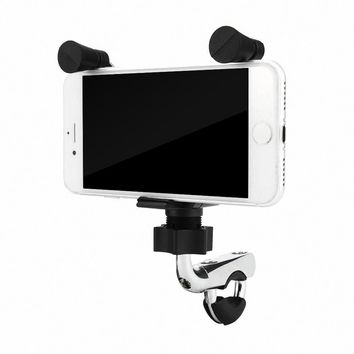 Motorcycle E-bike Bicycle 2 in 1 Stand Holder Mount Bracket USB Port Adapter Charging for Mobile Phone GPS Navigator MP3 Player