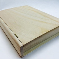 "10"" Unfinished Wood Hinged Secret Compartment Book ready to paint cover or embellish SUPPLY"