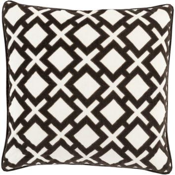 Glenfeliz Toss Pillow BLACK/IVORY
