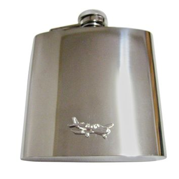 Cessna Plane 6 Oz. Stainless Steel Flask