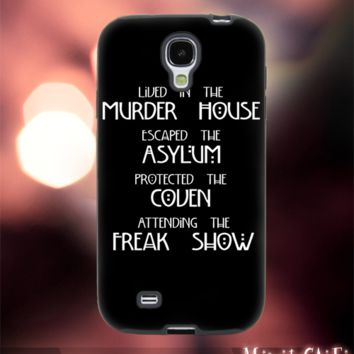 MC42Z,8,American Horror Story,Quotes,Ghost -Accessories case cellphone- Design for Samsung Galaxy S5 - Black case - Material Soft Rubber