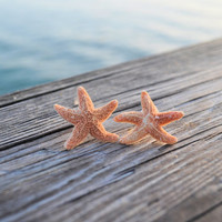 Real Sugar Starfish Aquamarine Earrings
