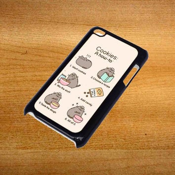 Pusheen cat cookies For iPod Touch 4 Case *76*
