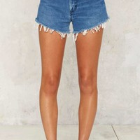 After Party by Nasty Gal Becky Wrangler Cutoff Shorts