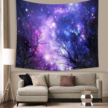 Starry Sky Polyester Indian Mandala Tapestry Wall Hanging Throw Dorm Bedspread Yoga Mat Decor Home Room Textiles Accessories