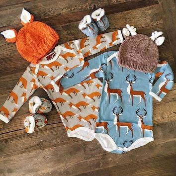 Cute Baby Boys Girls Babygrow Quote Vest Long Sleeves Bodysuit Outfits 0-18M