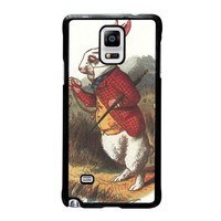 WHITE RABBIT ALICE IN WONDERLAND Disney Samsung Galaxy Note 4 Case Cover