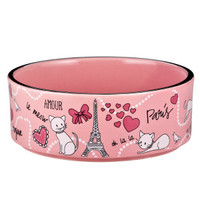 Whisker City® Paris Cat Bowl