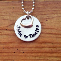 Wedding gift Mother's necklace  Hand Stamped by KennabelleDesigns