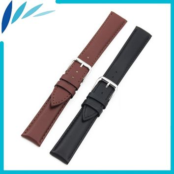 Genuine Leather Watch Band 14mm 16mm 18mm 20mm 22mm 24mm for Fossil Stainless Steel Pin Clasp Strap Wrist Loop Belt Bracelet