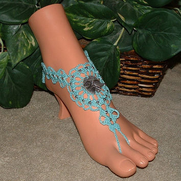 Crochet, Lovebird, Barefoot Sandals, Jewelry, Bracelet Rings, Sandal, Footless Sandles, Yoga, Dance, Crochet Accessories, Bird Jewelry
