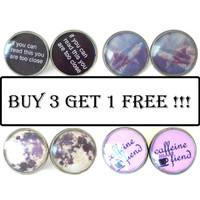 Resin Drop Pick Four Pairs Earrings and only pay for THREE Buy 3 G 1 Stud Earrings