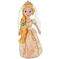 Disney Tangled Exclusive 20 Inch Deluxe Plush Figure Bride Rapunzel