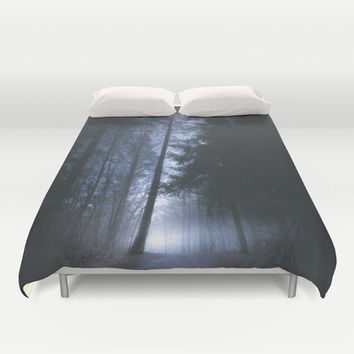Some rainbows lie Duvet Cover by HappyMelvin