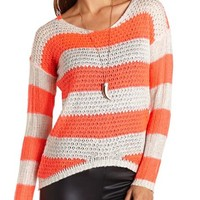 Fuzzy Knit Pullover Sweater: Charlotte Russe