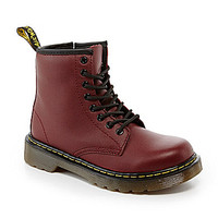 Dr. Martens Boys' Delaney Combat Boots - Cherry Red