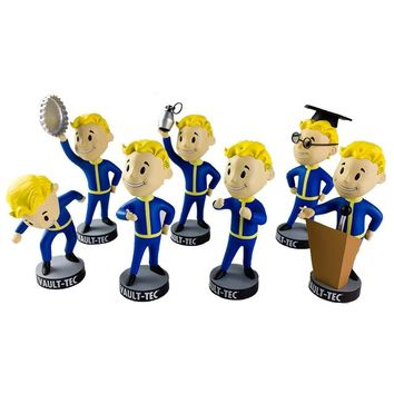7Styles 13CM Fallout 4 Vault Boy Bobble Head PVC Action Figure Collectible Model Toy Brinquedos Bobbleheads Series 2 Model Doll