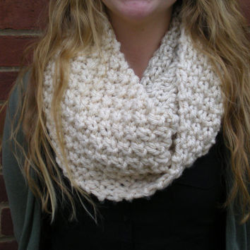 Alexis Chunky Knit Infinity Scarf by BrittKnit on Etsy