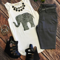 Test Your Luck Elephant Top