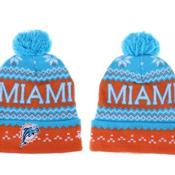 Miami Dolphins Beanies New Era NFL Football Caps