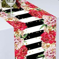 Kate and Spade Inspired Printed Cloth Table Runner - PTR121