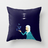 Frozen // Let It Go - Elsa the Snow Queen Throw Pillow by Lukas Emory