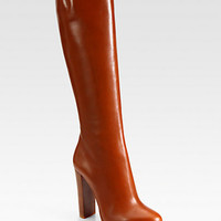 Mirabelle Leather Boots - Zoom - Saks Fifth Avenue Mobile