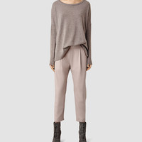 ALLSAINTS US: Womens Aleida Pants (Dusty Pink)