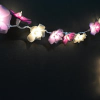 20 Lights  - Purple Tone Orchid Flowers String Lights Fairy Lights Patio Lights Wedding Lights Decoration Lights