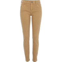 River Island Womens Beige Amelie superskinny jeans