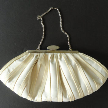 Vintage Cream Evening Purse