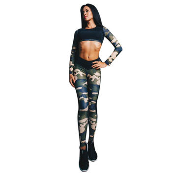 Fitness Tank Tops  Camouflage Tracksuit