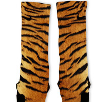 Tiger Pattern Custom Nike Elite Socks