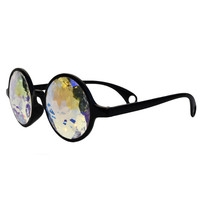 GloFX Kaleidoscope Glasses Goggles Opticals - Rainbow - Laser Cut Glass Crystals With Rainbow Rave Eye Wear Light Diffracting