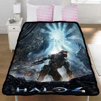Halo 4 Forward Unto Dawn Master Chief Throw Fleece Blanket L,XL - 002