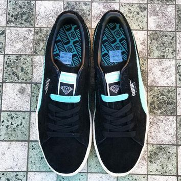 qiyif PUMA SUEDE X DIAMOND SUPPLY CO - DIAMOND BLUE/PUMA BLACK