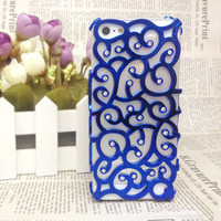 [grdx00260]Sparking Rhinestone Flower Hollow Out Case For Iphone 4/4s/5