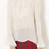 Frill Collar Lace Blouse - New In This Week  - New In