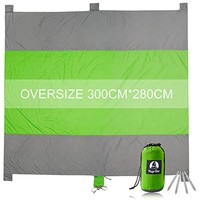 Sand Free Beach Blanket,100% 400T Gird Ripstop Nylon Outdoor Waterproof Picnic Blanket,Oversized 10'X 9' For 7 Adults,Compact,Quick Drying,Lightweight And Durable Design,Includes 4 Metal Pegs