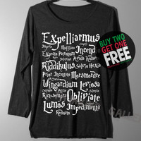 Harry Potter Spell Shirt Magic Spell Shirts Long Sleeve TShirt T Shirt - Size S M L