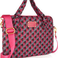 Marc by Marc Jacobs Printed twill laptop case – 49% at THE OUTNET.COM