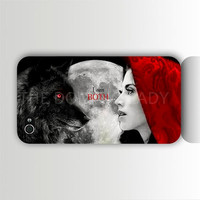Once Upon A Time I Phone 4/4s Case Cover - Ruby / Wolf - Full Moon - Fast US Shipper