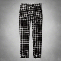 Checked Skimmer Pants