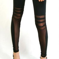 Black Leggings/Tights - Alex [Leggings,Tights,Bottoms,Pants] | UsTrendy