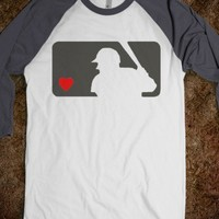 Baseball Love / Red Heart baseball length sleeves softball sports