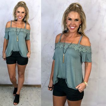 Those Summer Nights Sage Blouse