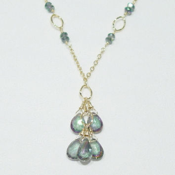 Mystic Topaz 14K Gold Filled Necklace